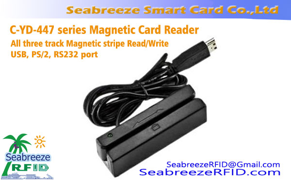 All three track Magnetic Stripe Card Read/Write device, یو اس بی, PS/2, RS232