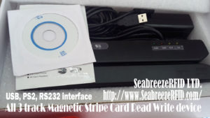 all 3 track Magnetic stripe card Read Write device, USB, PS2, RS232. SeabreezeRFID LTD.
