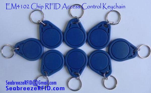 EM4102 Chip RFID Access Control KeyChain, 125KHz Fobs