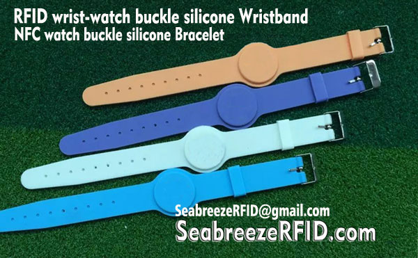 RFID Wrist-watch Buckle Silicone Bangle, NFC Watch Buckle Silicone Gelang