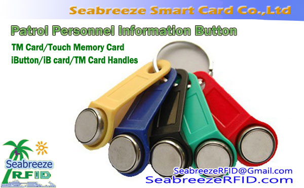 TM Card, Tutul memori Card, Button informasi, Ibutton