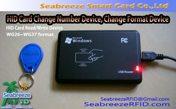 HID Card Read/Write Device, HID Card Change Number Device, HID Card Change Format Device