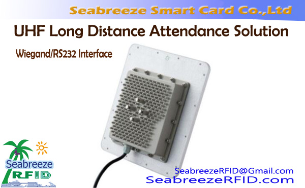 UHF Long-distance Access Control Attendance Solution, UHF Long-distance Access Control Attendance Reader Wiegand/RS232 Interface