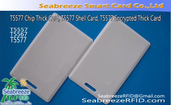 T5577 Chip Tyk Card, T5577 Shell Card, T5577 krypteret Tyk Card