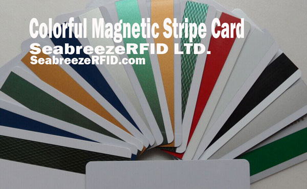 Colorful Stripe Card Magnetic