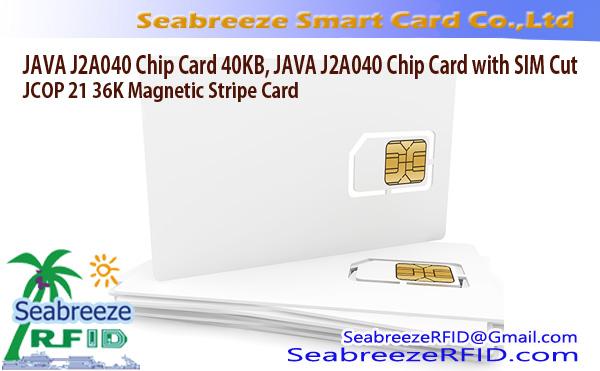 JAVA J2A040 Chip Card 40KB, JAVA J2A040 Chip Card na may SIM Cut