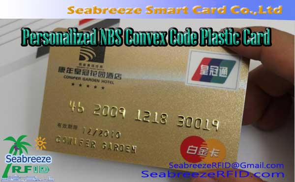 Personalized NBS Convex Code Plastic Card