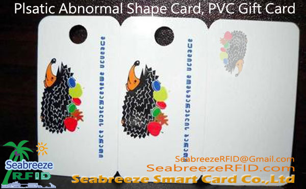 Plastic Profiled Card, Abnormal Hugis PVC Card