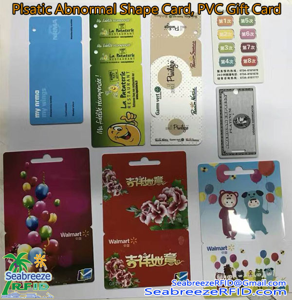 Plastični Profilirana kartice, PVC Abnormal Shape Card, PVC Non-standard Card, Plastic Smart Card, Plastic Gift Card, Plastic Advertising Card, od Seabreeze Smart Card Co, Ltd.