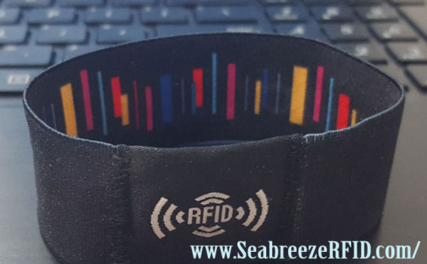 RFID Nylon Knit Wristband, NFC Fabric Elasticity Stretch Bracelet