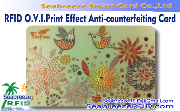 RFID O.V.I.Print Effect Card, Optical Variable Ink Print Anti-counterfeiting Card