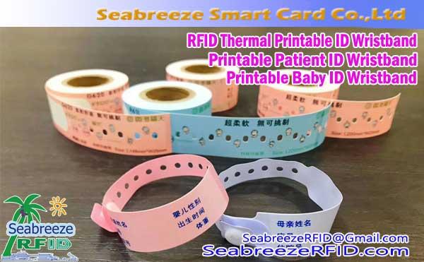 RFID Printable Patient Identification Wristband, Baby ID Wristband, Thermal Paper Printable Wristband