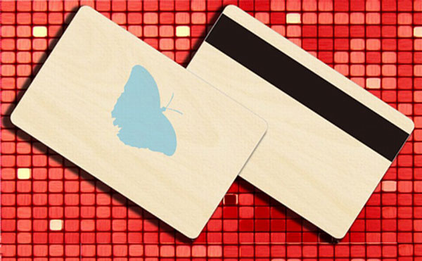 RFID Wood Card, Bamboo Efni Card, Magnetic Stripe Wood Card