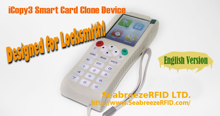 iCopy3 Smart Card Copy Machine, iCopy3 IC, ID Card Výťah Card Clone Device, iCopy3 Smart Card Clone Device, iiCopy3 IC ID Card Elevator Card Copy Device. SeabreezeRFID LTD.
