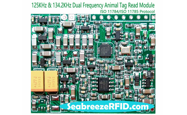 125KHz & 134.2KHz Dual Frequency ISO 11784 ISO 11785 Protokol Animal Tag Read Module