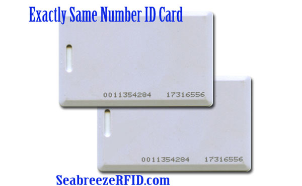 Exactly Same Number ID Card, Exactly Same Code Access Control EM Card