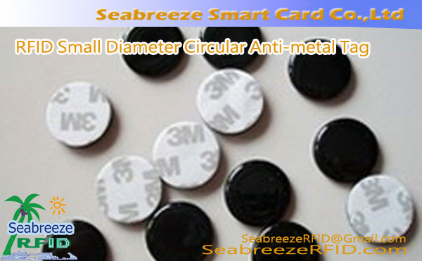 RFID Small Diameter Circular Anti-metal Tag na may 3M malagkit