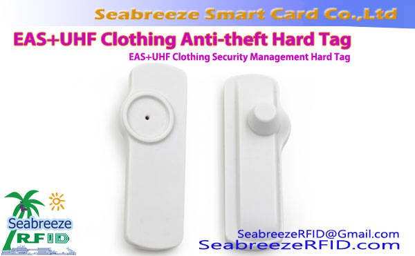 EAS + UHF Clothing Anti-pagnanakaw Hard Tag, EAS + UHF Clothing Security Management Hard Tag
