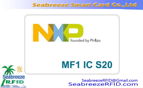 Mifare IC S20 Chip Card, Mifare Mini S20 Kaart, MF1 IC S20 Chip Card
