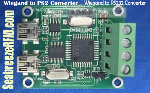 Wiegand to PS2 Converter, Wiegand to USB Converter, Wiegand to RS232 Converter, Access Control Converter