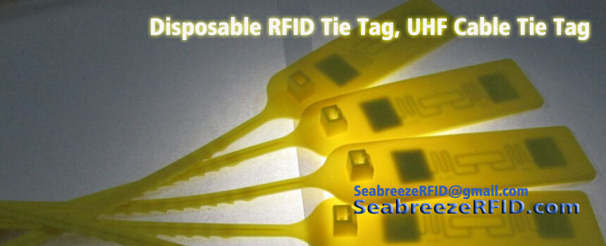 Jednorazowe Tag RFID Tie, Disposable RFID Cable Tie Tag, Disposable UHF Cable Tie Tag, Disposable UHF Tie Tag, z SeabreezeRFID.com