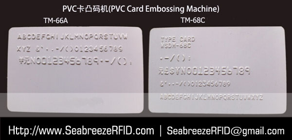 Manual Bank Card Code Printer, PVC Kaadi rubutu ti Code Printer, PVC Card Embossing Machine, Plasitc Card Convex Code Printer, Plastic Card Embossing Machine, PVC Plastic Kaadi Embossing Machine, from SeabreezeRFID.com