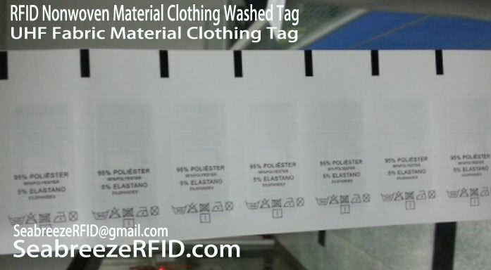 RFID Fabric Material Clothing Tag, RFID Nonwoven Material Clothing Tag, UHF Polyester Material Clothing Washed Tag, SeabreezeRFID.com