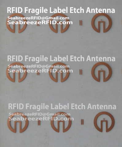 RFID Fragile Label Etch Antenna, RFID Easy Tear Tag Antenna, RFID Fragile Tag Etch Antenna, RFID Easy Tear Label Antenna, od SeabreezeRFID.com