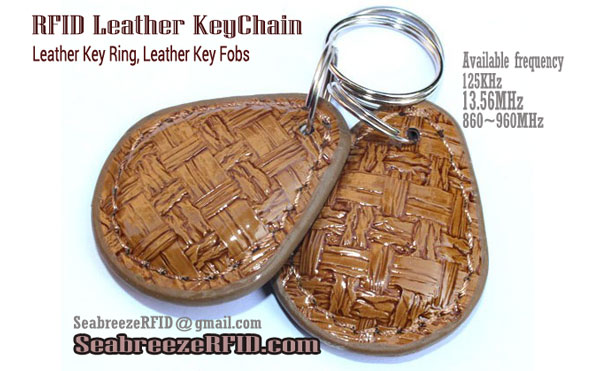 RFID Leather Key Chain, RFID Leather Key Ring, RFID Δερμάτινο μπρελόκ