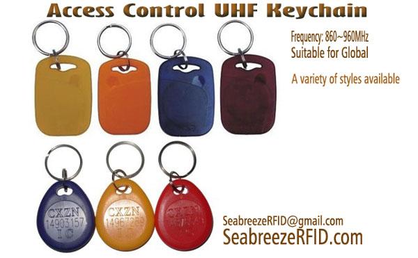 RFID UHF Key Ring, Akses Kontrol UHF Keychain