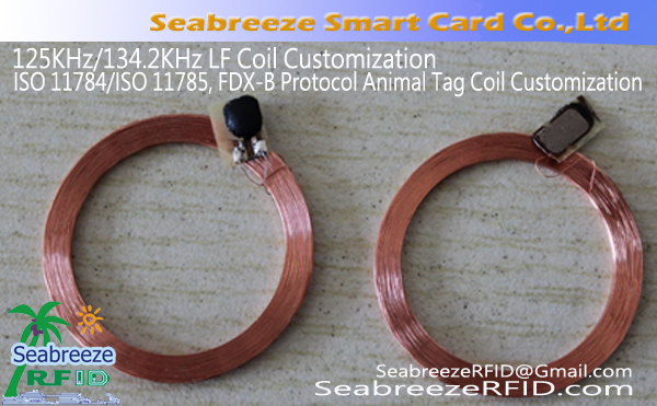 125KHz / 134.2KHz LF Coil Customization, ISO 11784 / ISO 11785, FDX-B Itifaki ya wanyama Tag Coil Customization