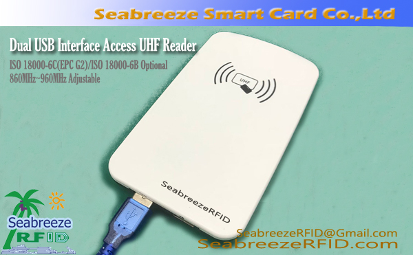Dual USB Interface Access UHF Reader, Access Control Dual USB Interface UHF 915MHz Reader