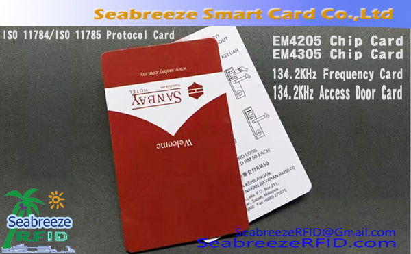 EM4205 Chip Card, EM4305 Chip Card, 134.2KHz Frequency Akses Door Card