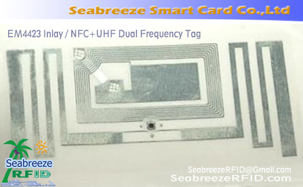 EM4423 Inlay, NFC + bandet Dual Frequency Tag