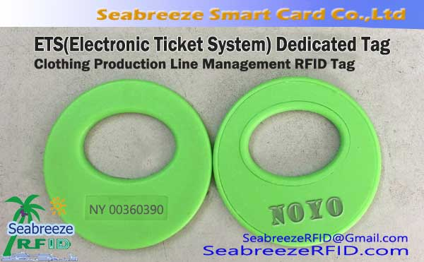 Nanolo-tena ny Electronic Ticket System Tag, Clothing Production Line Management RFID Tag, ETS andro