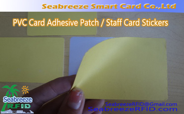 Kaart van pvc Adhesive Patch, Card Personeel Stickers