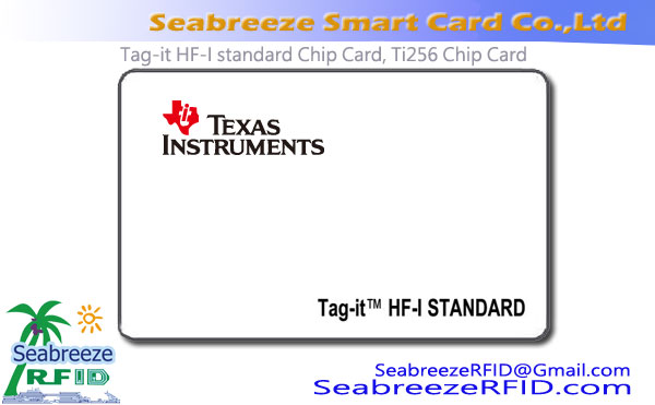 Tag-shi HF-I misali Chip Card, Ti256 Chip Card