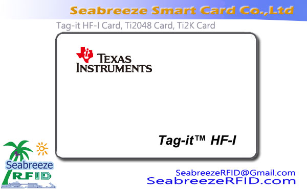 Tag-et-HF ech Chip Card, Ti2048 Chip Card, Ti2K Chip Card