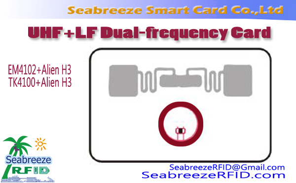 UHF+LF Dual-frequency Card, Alien H3+EM4102 Dual-frequency Card