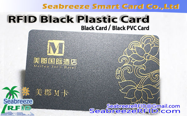 Sort PVC-kort, Black Card, RFID Black Plastic Card