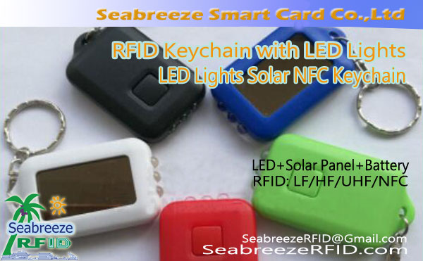 RFID-avaimenperä LED-valoilla, LED Lights NTAG213 Chip Keychain, LED-valot Solar NFC-avaimenperä, NFC Keychain with LED Lights, RFID Key Fobs with LED Lights, RFID Key Ring with LED Lights, from SeabreezeRFID.com