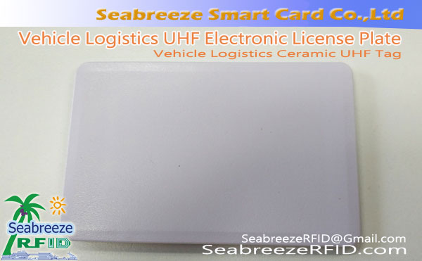 Vehicle Logistics UHF Tag ceramica, Veicolo targa Logistica UHF elettronico