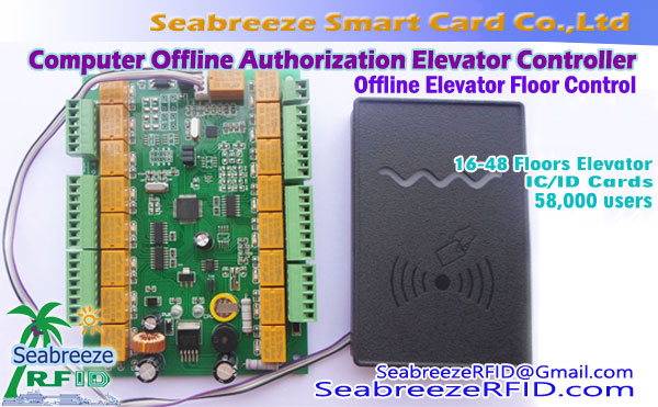 16-manier Computer Offline Authorization Lift Controller, Computer Offline Floor Authorization Elevator Controller, van Seabreeze Smart Card Co., Ltd.