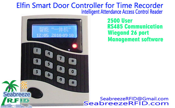 Elfin Smart Door Mdhibiti kwa Time Recorder, Intelligent Mahudhurio Access Control Reader