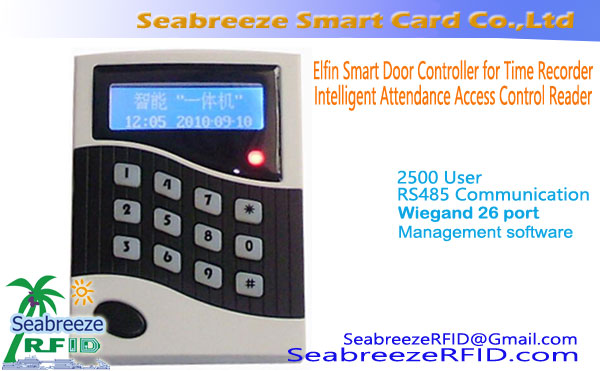 Elfin Smart Door Controller for Time Recorder, Intelligent Attendance Access Control Reader