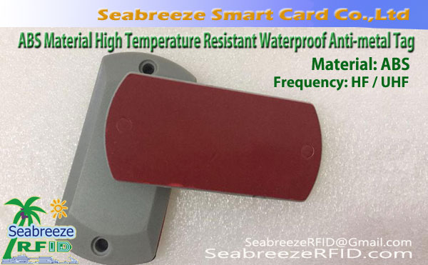 ABS Materyal Mataas na Temperatura Lumalaban Waterproof RFID Anti-metal Tag