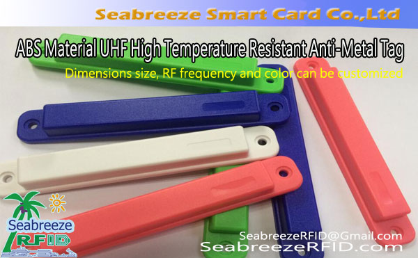 ABS Materiale UHF resistente alle alte temperature Tag anti-Metal