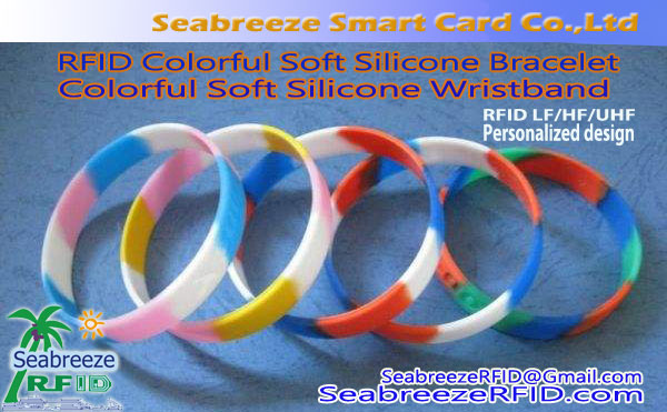Colorful Soft Silicone Bangle, RFID Colorful Silicone Gelang, NFC Colorful Silicone Bangle, saka Seabreeze Smart Card Co., Ltd.