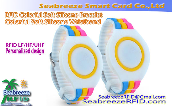 Colorful Soft Silicone Wristband, RFID Colorful Silicone Bracelet, NFC Colorful Silicone Wristband