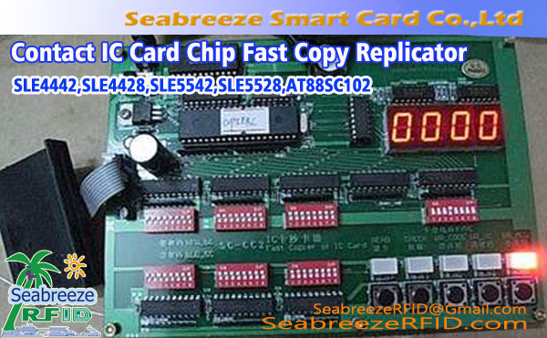 Contact IC Card Chip Fast Copy Replicator van SLE4442, SLE4428, SLE5542, SLE5528, AT88SC102